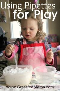 easy indoor play, preschool indoor activites, pipette activities