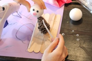 Winter Olympic Pinecone Craft