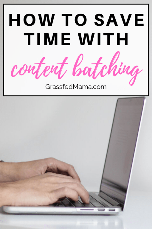 How to Save Time With Content Batching