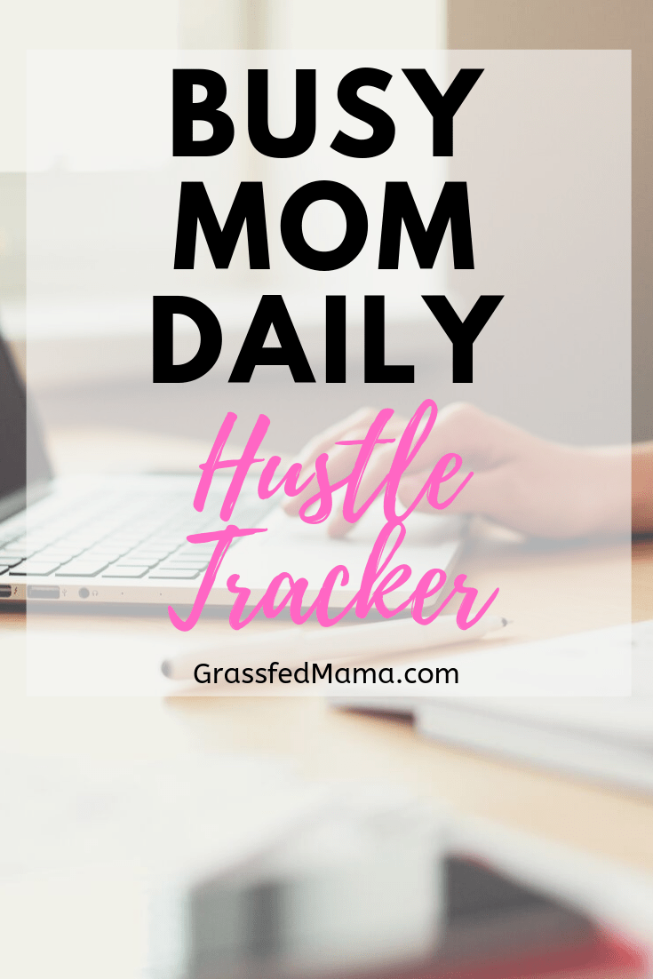 Busy Mom Daily Hustle Tracker