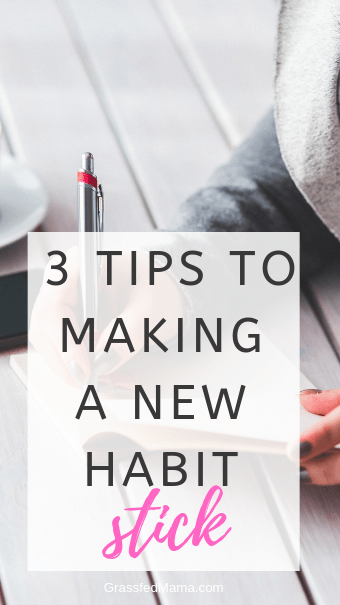 3 TIPS TO MAKE A NEW HABIT STICK