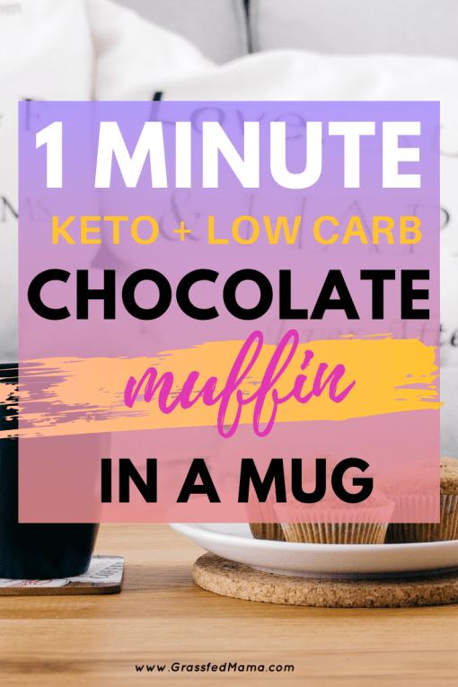 Keto Chocolate Muffin in a Mug Recipe