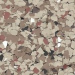 Color Flakes For Garage Flooring Pecan Color