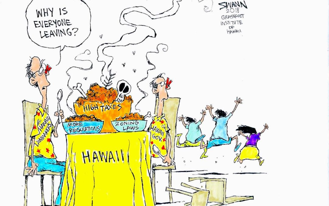 Why are residents leaving Hawaii?
