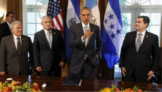 Central American Presidents with Obama