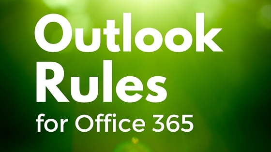 Outlook Rules