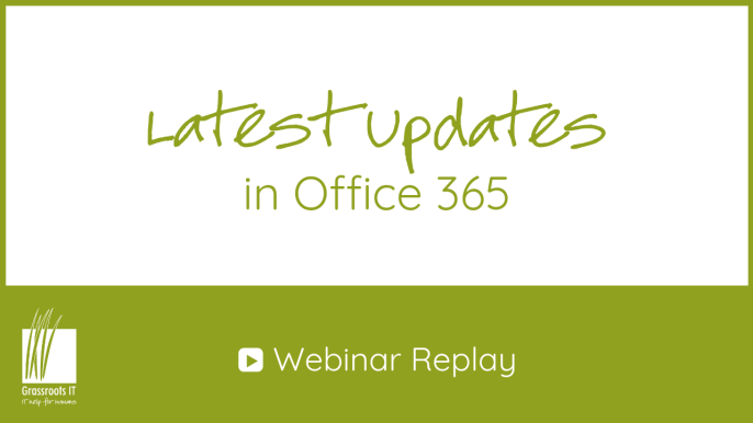 What's new in Office 365? webinar