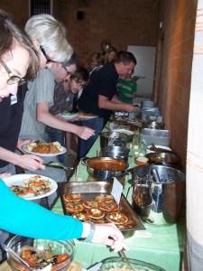 vegetarisch buffet, potluck Brugge, mei 2011