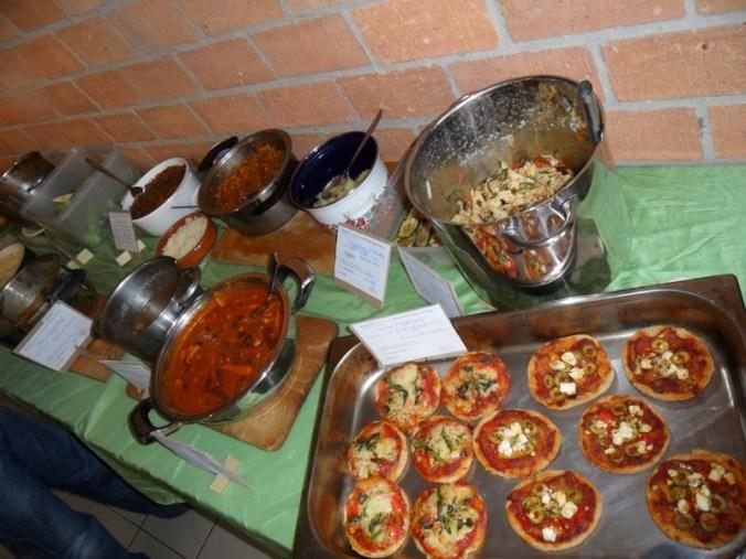 vegetarisch buffet op veggie potluck