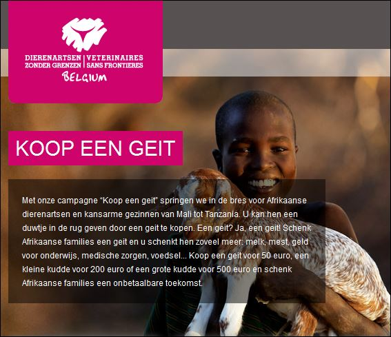 Screenshot website Dierenartsen Zonder Grenzen, 2016