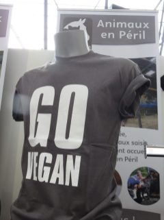 Go Vegan T shirt, Veggieworld