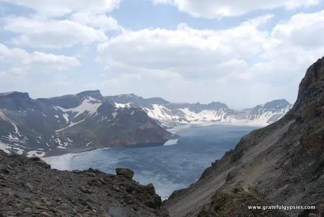 The Heavenly Lake at Changbai Mountain.