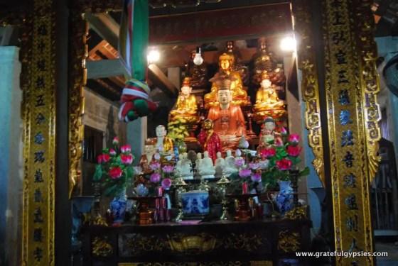 Buddhist shrine inside of the pagoda.