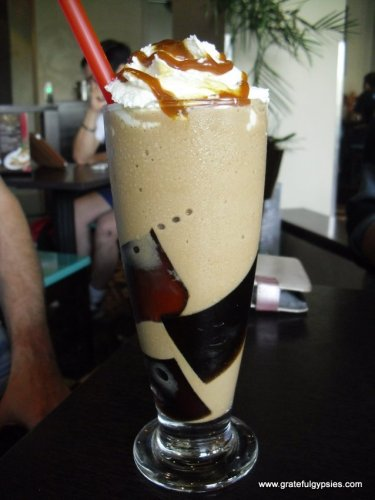 Iced jelly coffee - a great way to beat the heat.