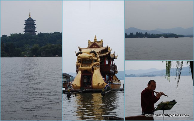 The famous West Lake of Hangzhou.
