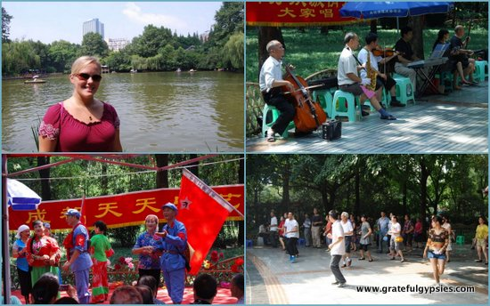 The People's Park of Chengdu