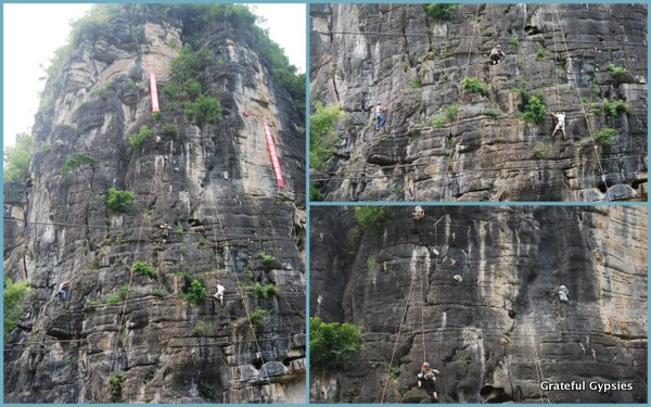 Climbers in Yangshuo.