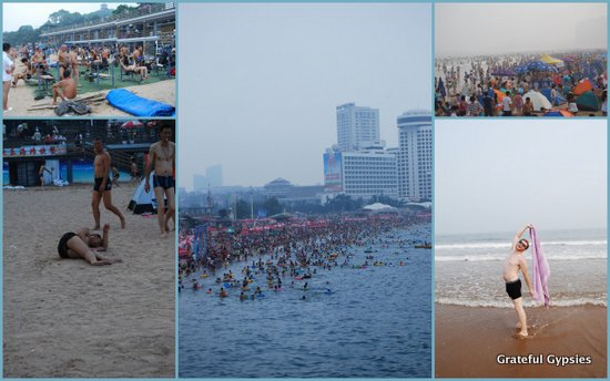 Scenes from the Chinese beach.