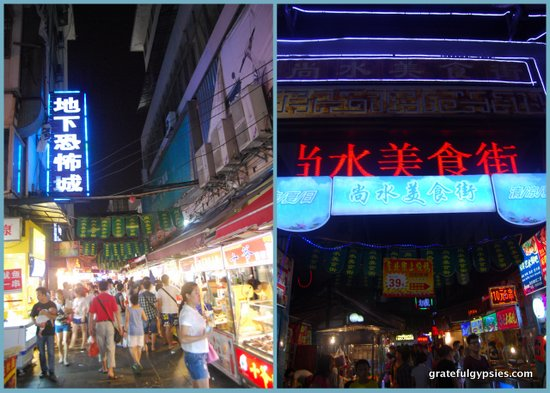 Guilin's night market.
