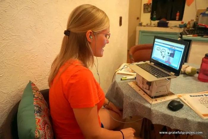 teaching English online setup