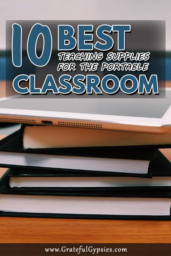 Teaching English online allows us to travel where we want and as often as we want. People often ask us about our teaching setup and how to make it portable. Here are the 10 best teaching English online classroom supplies for the portable classroom. #travelingteachers #OnlineEnglishTeacher #teachingEnglishOnlineClassrooom