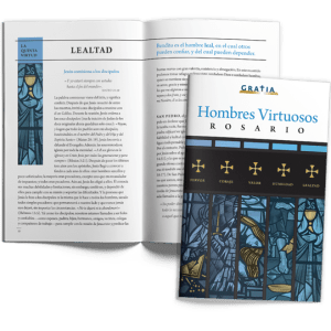 Men of Virtue Rosary (Spanish) cover and interior