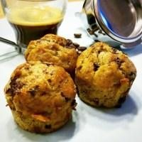 Muffins végans banane et éclats de chocolat