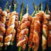 Torsades feuilletées de bacon aux asperges