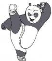 Po disegno da colorare: calcio kung fu panda