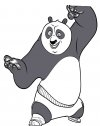 Disegno kung fu panda Po mossa segreta
