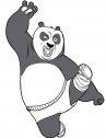 kung fu panda ksi allena: stampa e colora