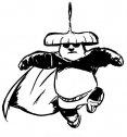 stampa e colora kung fu panda