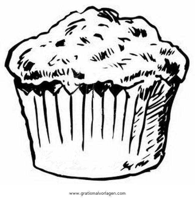 Muffin 1 Gratis Malvorlage In Essen Amp Trinken