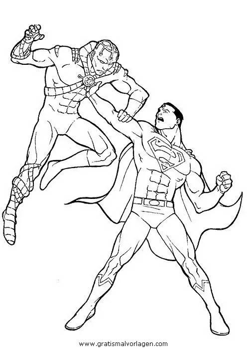 Superman 51 Gratis Malvorlage In Comic Amp Trickfilmfiguren