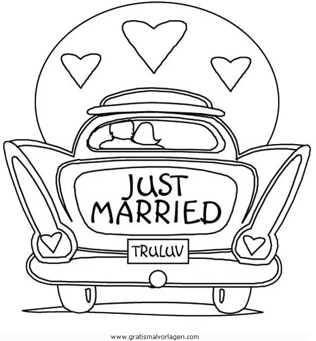 Ehe Hochzeit Clip Art Just Married Auto Png Herunterladen 600