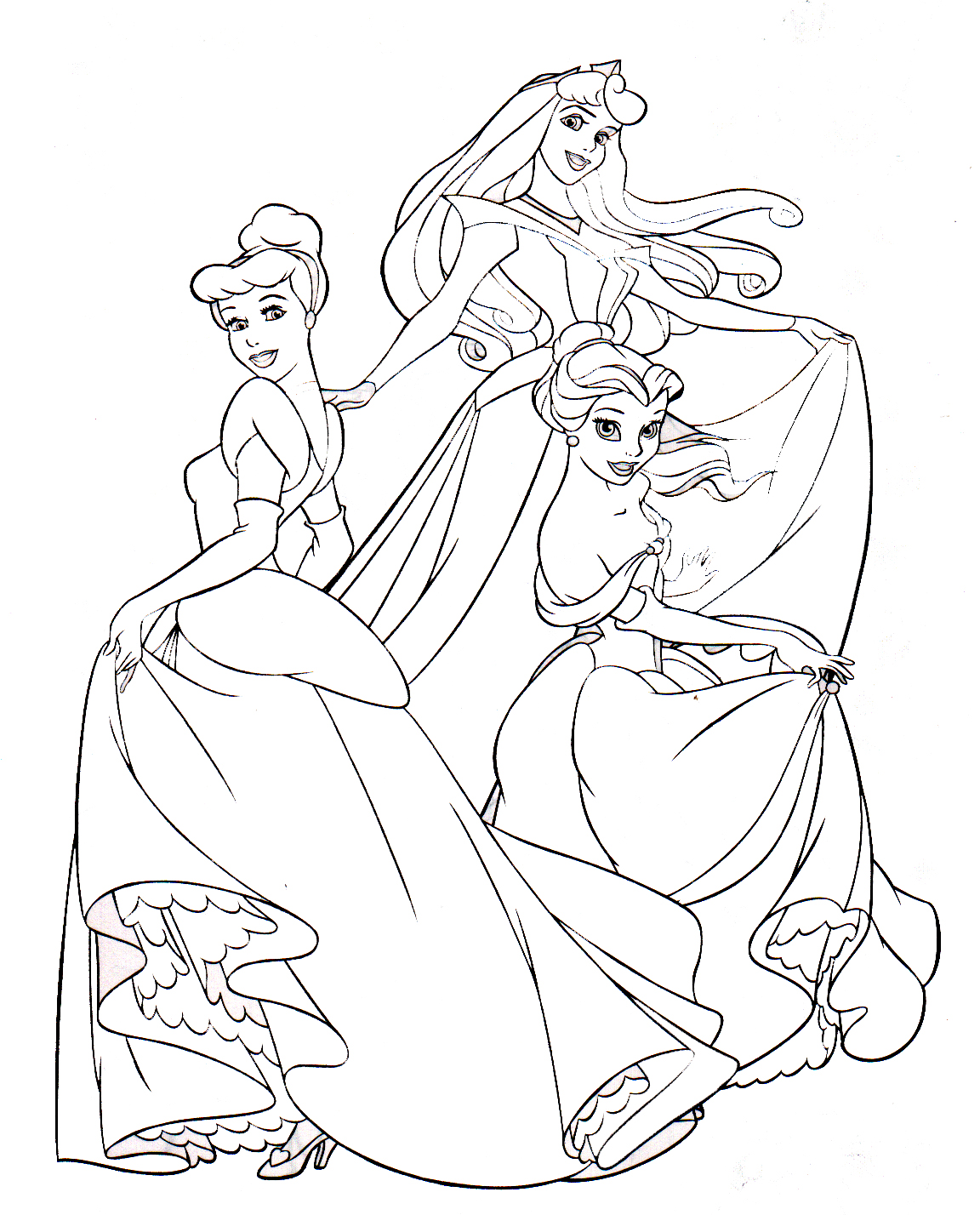 Rapunzel Disney Princess Coloring Pages Disney Princess Coloring Pages Rapunzel
