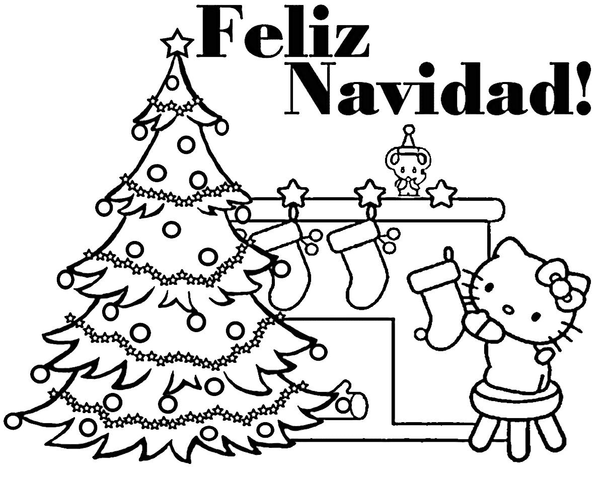 Dibujos De Feliz Navidad Para Colorear E Imprimir Imagenes Feliz Navidad