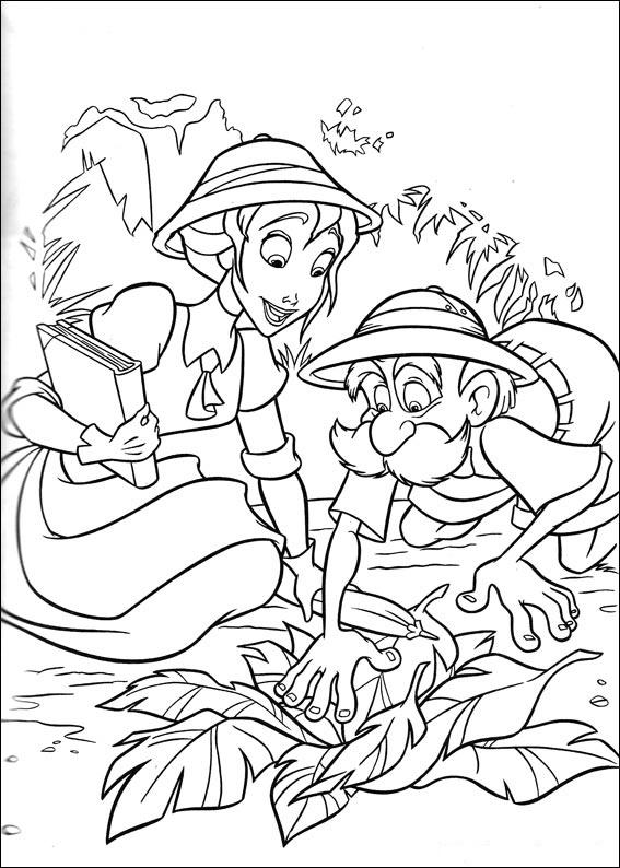 Dibujos De Tarzan Y Jane Para Colorear Pintar E Imprimir