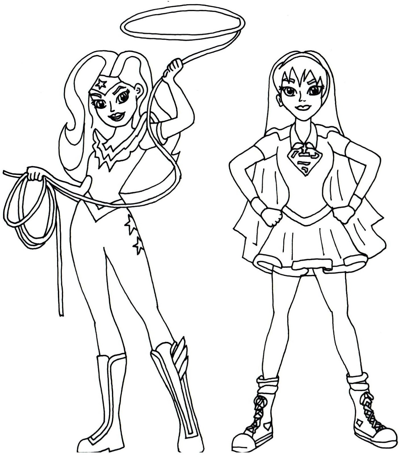 Supergirl Coloring Pages Printable Sketch Coloring Page