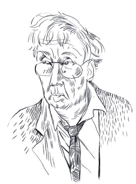 """Portrai, das Horst Janssen zeigt. Von """"Grau auf Weiss"""""""