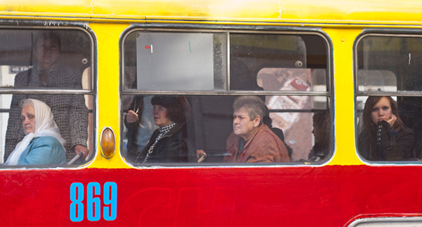 Busfahrerinnen in Liviv (Lemberg), Ukraine