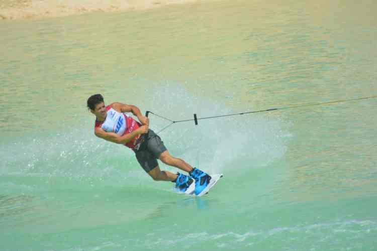 Alejo de Palma en la final del mundial de wakeboard 2015 IWWF