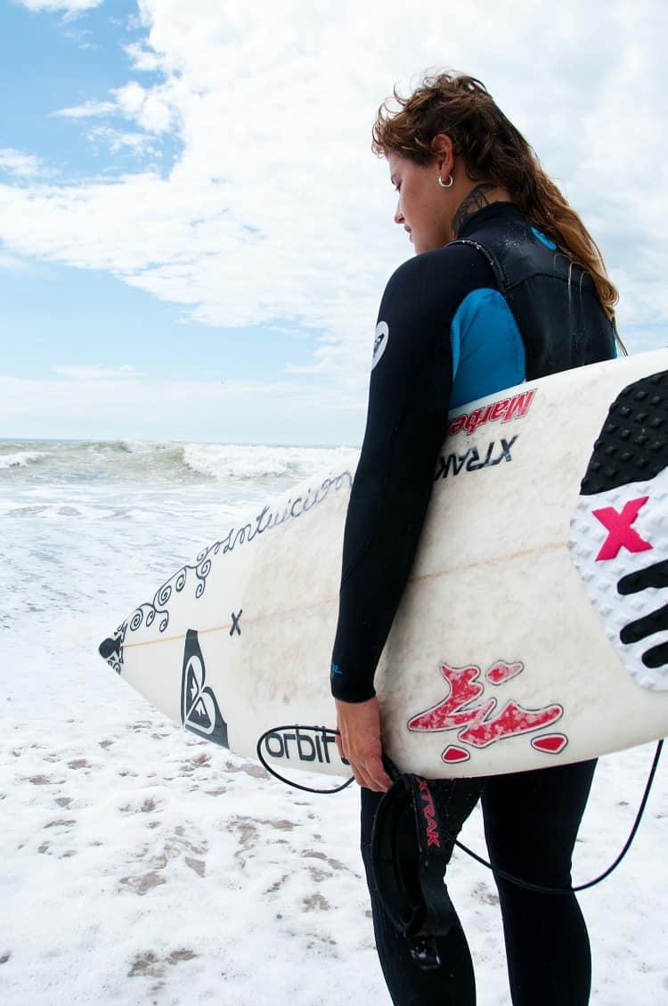 Ornella Pellizari, la gran campeona argentina de surf