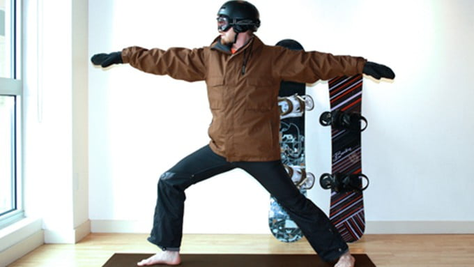 Snowboard-yoga