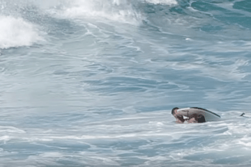 Un bodyboarder rescata a un surfista de una muerte segura en Pipeline