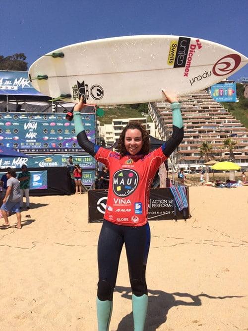 Lorena Fica fue la surfista con los puntajes más altos de todo el evento. Foto- Surfline en Español