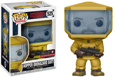 Funko Pop! Television #525 Stranger Things Hopper (Biohazard Suit)