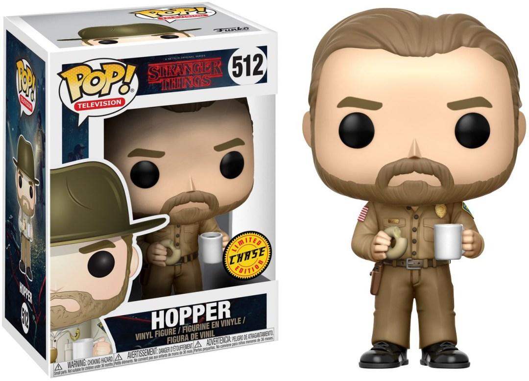 Funko Pop! Television #512 Stranger Things Hopper [No Hat]