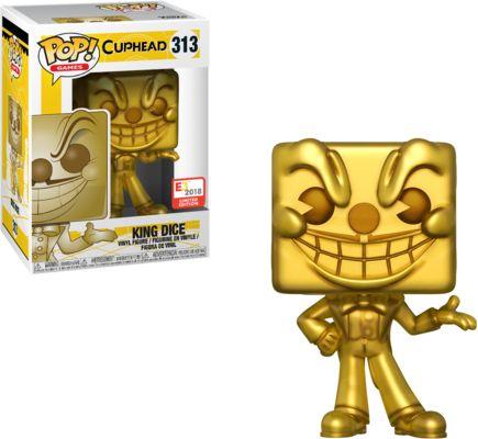 Funko Pop! Games #313 Cuphead King Dice [Gold]