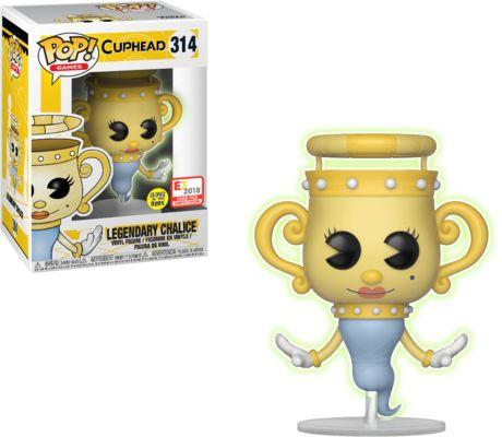 Funko Pop! Games #314 Cuphead Legendary Chalice [Glow-in-the-Dark]